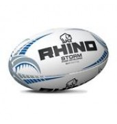 Rhino Storm Pass Developer Rugby Ball WHITE S5