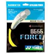 Yonex BG 66 Force Badminton String 10M Set Yellow