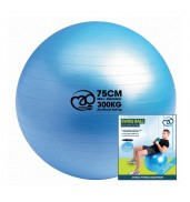 300Kg Swiss Ball & Pump with Online Guide 75cm BLUE O/S