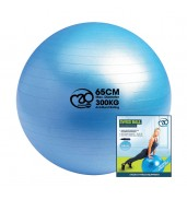 300Kg Swiss Ball & Pump with Online Guide 65cm BLUE O/S