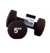 Pair 5Kg Neo Dumbbells - Black