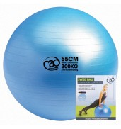 300Kg Swiss Ball & Pump with Online Guide 55cm BLUE O/S