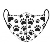 Paw Print Face Mask BLACK/WHITE