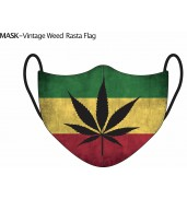 Rasta Weed Face Mask