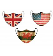 Vintage Nations Face Mask