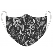 Christmas Black Nature Pattern Face Mask
