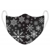 Christmas Black Snowflake Face Mask