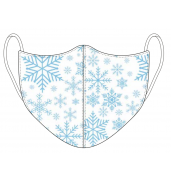 Christmas White Snowflake Face Mask