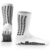 LUX Anti Slip Sports Socks (Calf) WHITE
