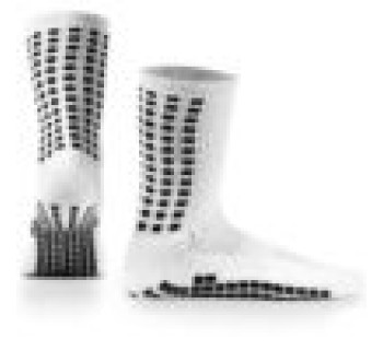 LUX Anti Slip Sports Socks (Calf) WHITE