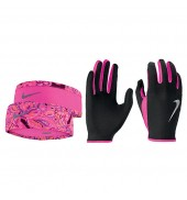Nike Womens Run Dry Headband & Glove Set