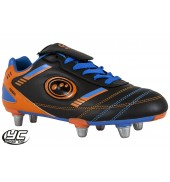 Optimum Tribal Rugby Boot (Black/Blue/Orange)