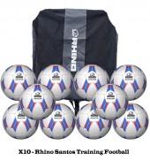 Rhino Santos Training FootBall Bundle (10 Balls)