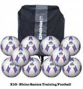 Rhino Santos Training FootBall Bundle (10 Balls)