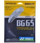 Yonex BG 65 TITANIUM RED O/S