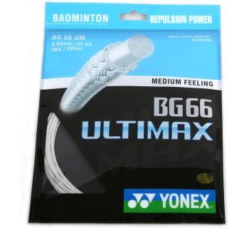 Yonex BG 66 Ultimax Badminton String Set White O/S
