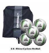 Rhino Cyclone NetBall Bundle (5 balls)