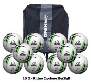 Rhino Cyclone NetBall Bundle (10 balls)