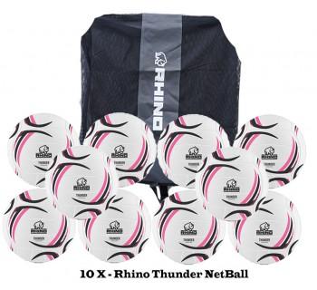 Rhino Thunder NetBall Bundle (10 balls)