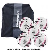 Rhino Thunder NetBall Bundle (5 balls)