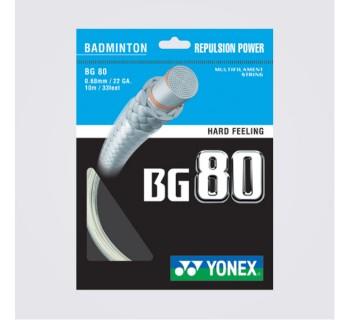 Yonex BG 80 Power Badminton String Set WHITE O/S