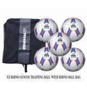 Rhino Santos Training Ball Bundle 5 Footballs