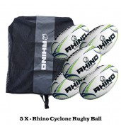 Rhino Cyclone Rugby Ball Bundle (5 balls)