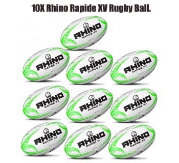Rhino Rapide XV Rugby Ball Bundle (10 balls)