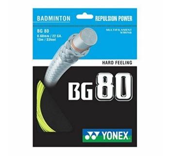 Yonex BG 80  Badminton String Set YELLOW O/S