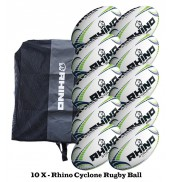 Rhino Cyclone Rugby Ball Bundle (10 balls)