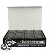 Dunlop Competition Squash Ball (12 Pack)