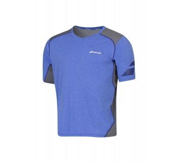 Babolat Mens Performance V-Neck Tee (2MS16012-216 Dazzling Blue)