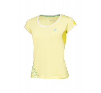 Babolat Girls Performance Cap Sleeve Tee (2GS16031-223 Lime Washed)