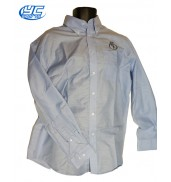 URNU Wales Long sleeve Mens light blue Oxford shirt